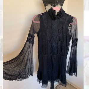 Nasty gal black lace dress